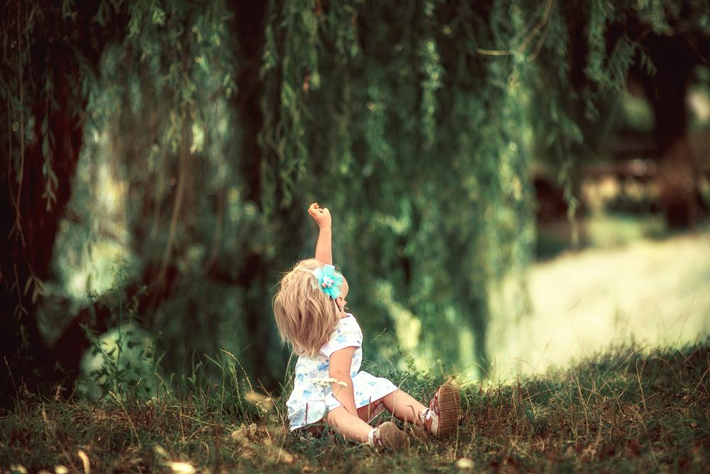 Детская фотосессия - Аня, 2 годика