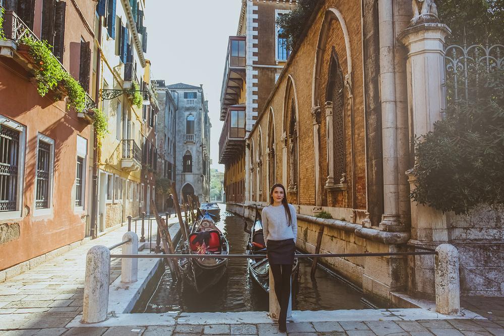 осень, фотограф в Венеции круглый год