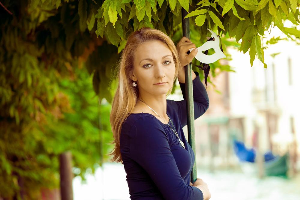 девушка на фотосессии в Венеция
