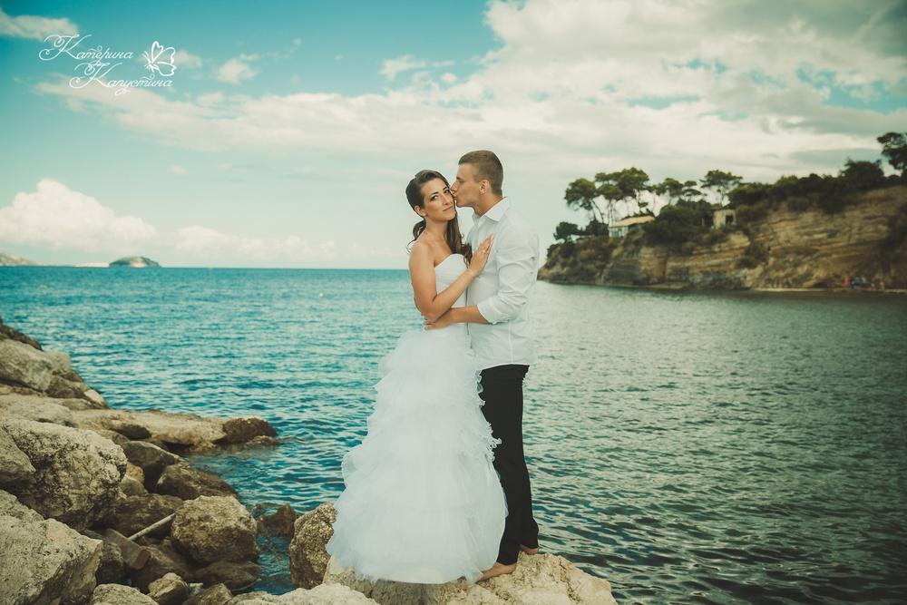 Катерина и Сергей. Остров Закинф, Греция.