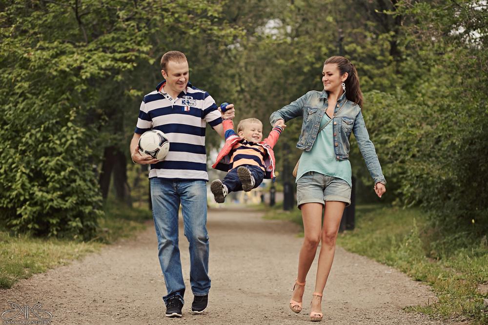 Женя, Марина и Миша