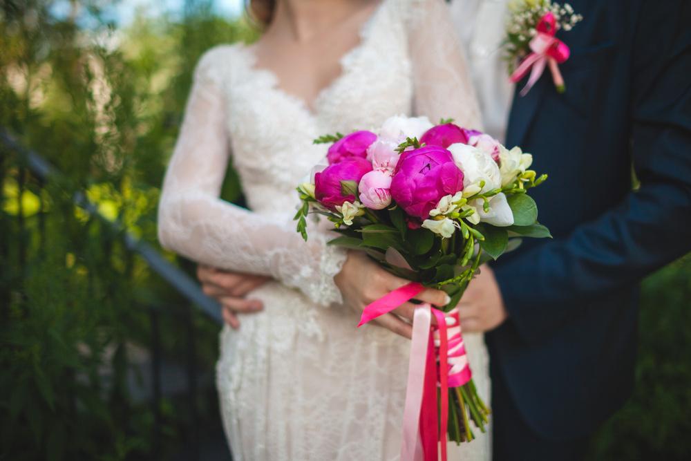 свадьба пионы