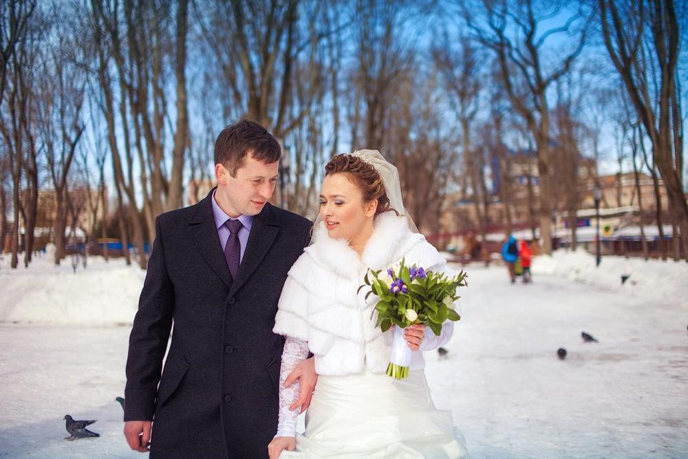 Парк им. А. К. Толстого Брянск, Свадьба зимой