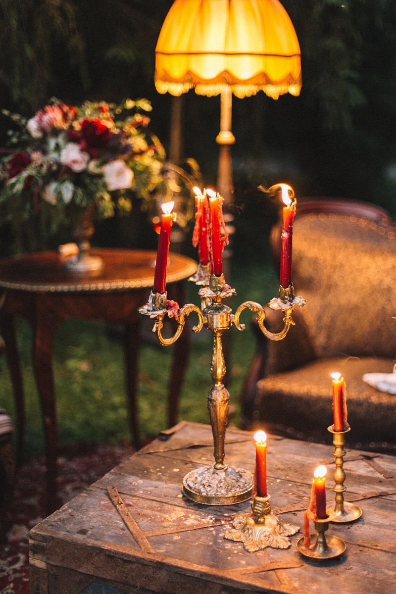 оформление свадьбы, свечи