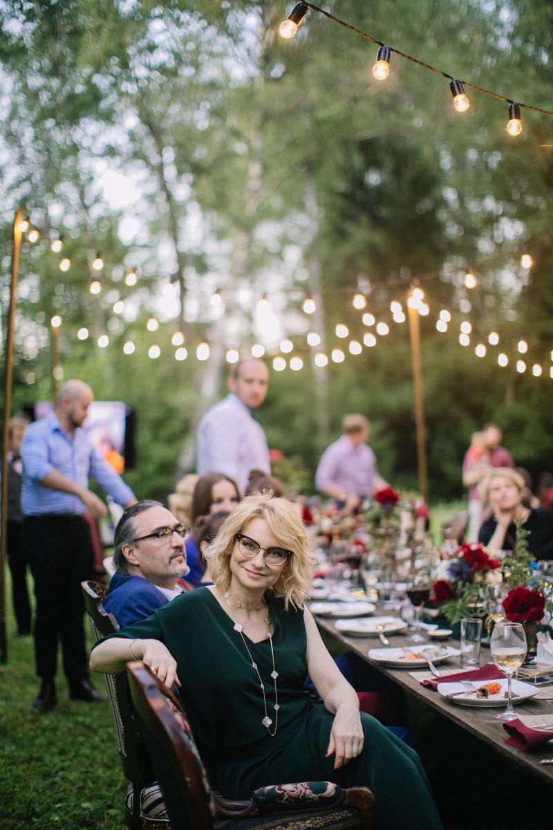 оформление свадьбы на лесной даче