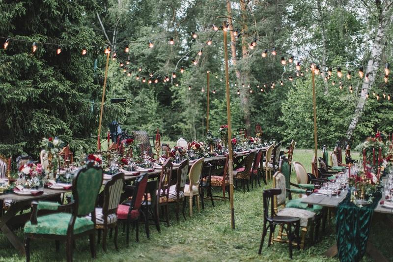 организация свадьбы на лесной даче