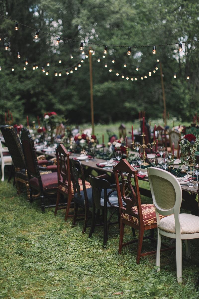 оформление свадьбы в лесу