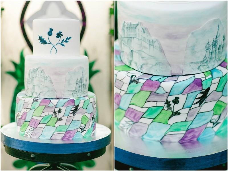 оформление свадебного торта