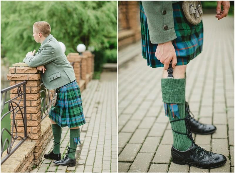 жених на шотландской свадьбе