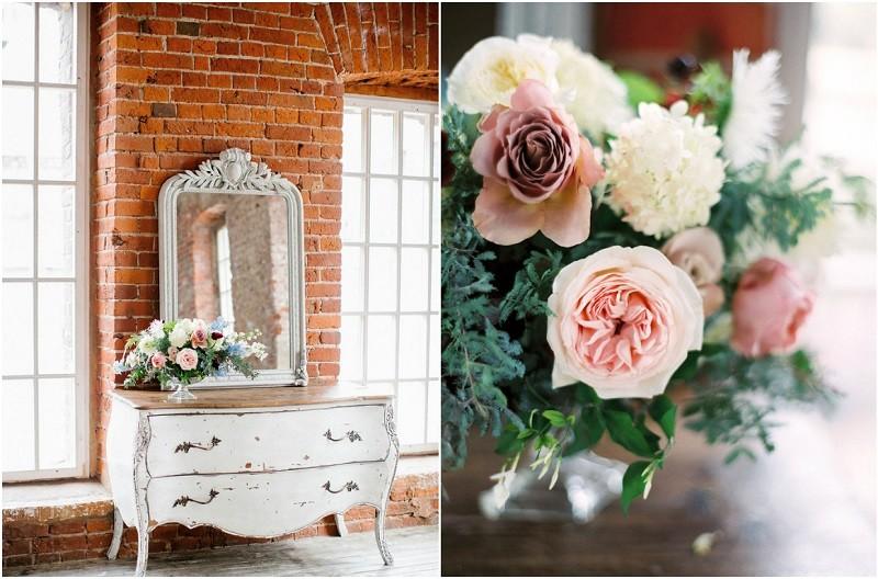 декор свадьбы в лофте