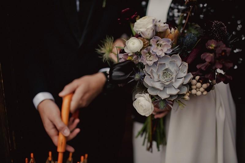 букет невесты с сакулентами