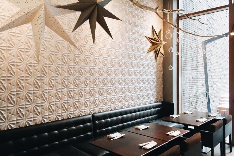 Новогоднее оформление ресторана Sumosan Villa