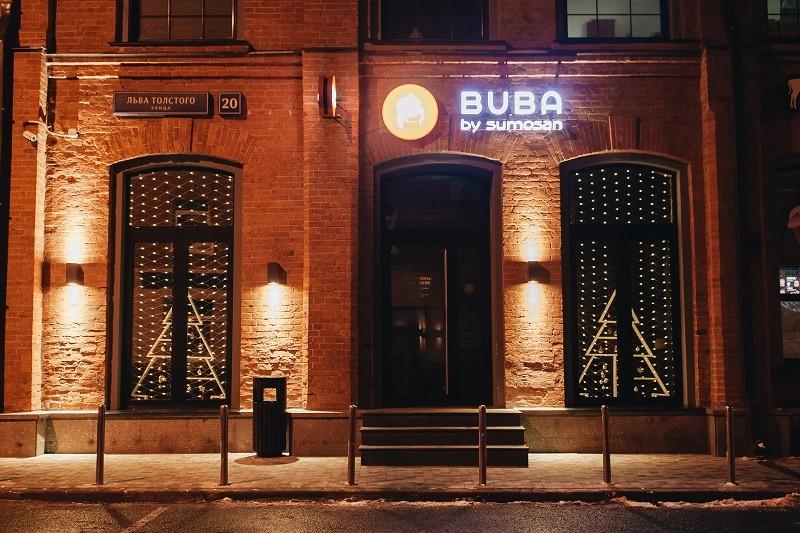 Новогоднее оформление ресторана Buba ул. Льва Толстого, 20