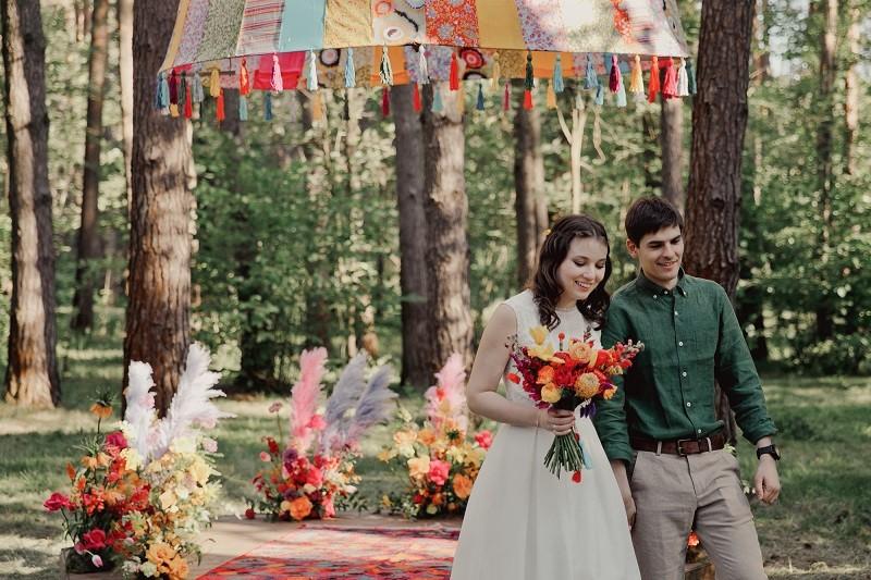 Никита ♡ Ася. Яркая бохо свадьба