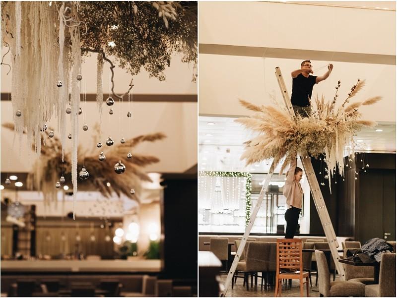 Новогоднее оформление ресторана Sumosan Redisson