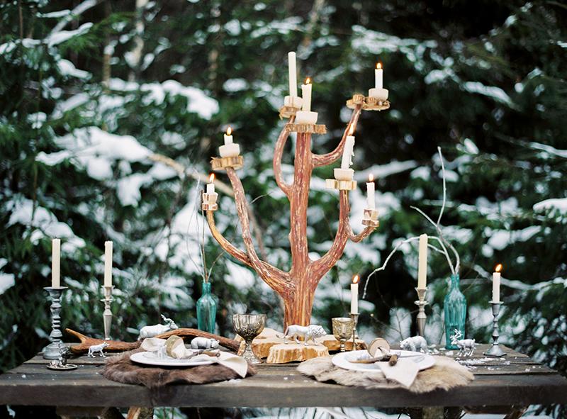 Сервировка зимнего стола Хроники Нарнии