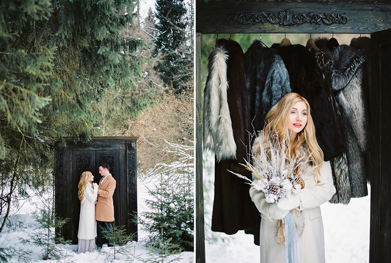 шкаф из Хроник Нарнии в лесу