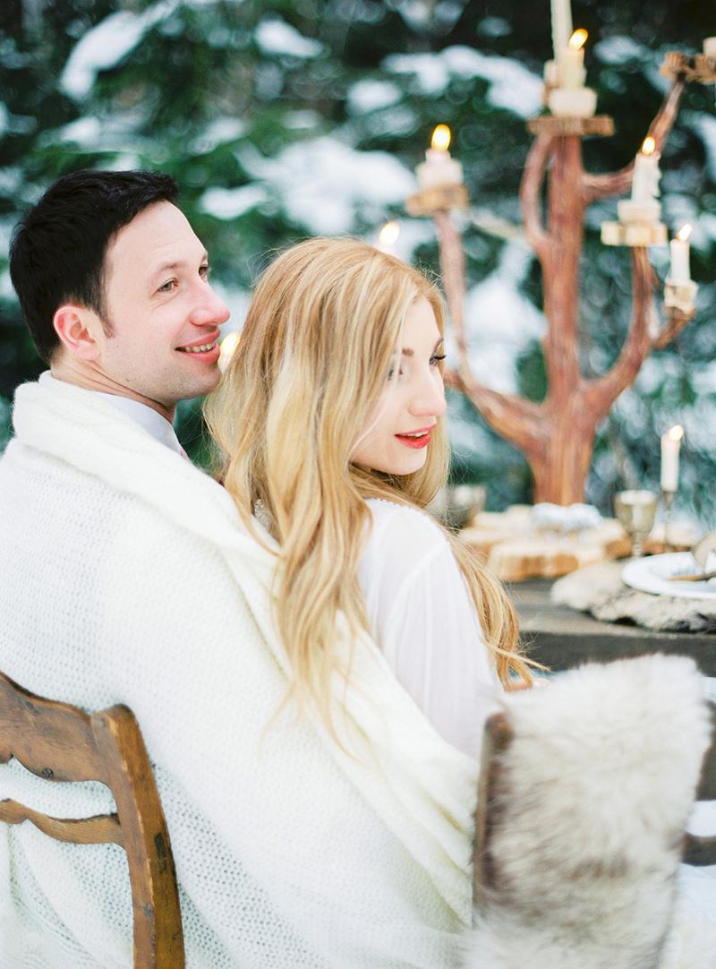 Съемка Тома и Ксюши в зимнем лесу по мотивам Хроники Нарнии