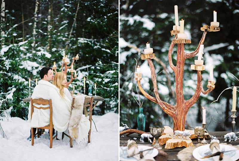 зимняя стилизованная съемка по Хроники Нарнии