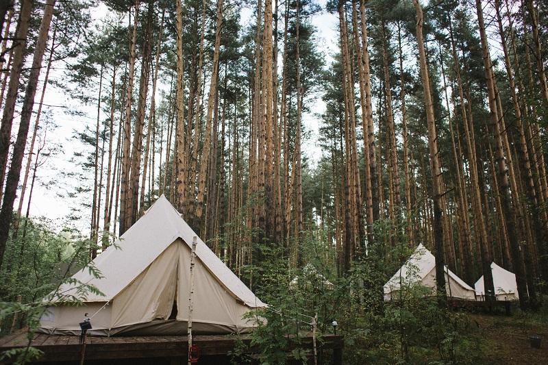 Лес и море. Оформление палаток и ужина