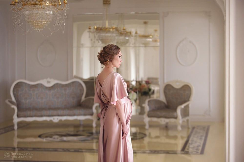 вечернее платье для беременной на фото
