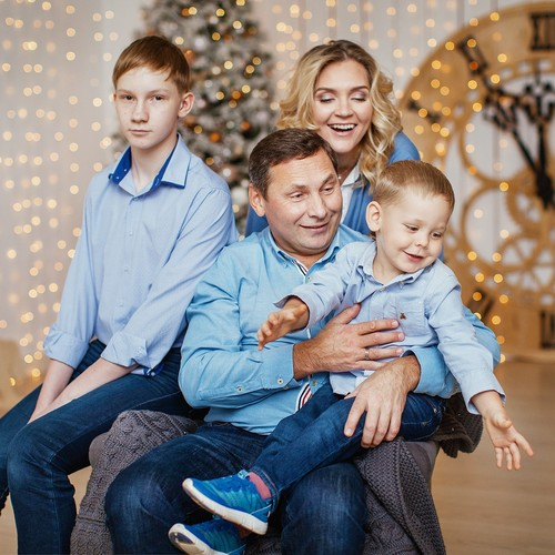 Елена, Алексей, Игорь и Андрюша
