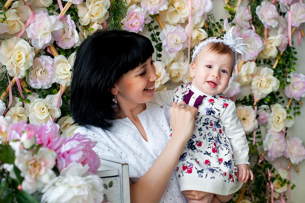 Улыбашка Даша  и её счастливые родители