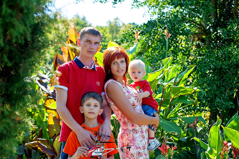 Семейная фотосессия в Ботаническом саду