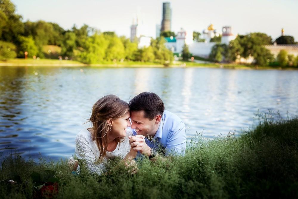 Love Story Лидии и Сергея в Новодевичем парке
