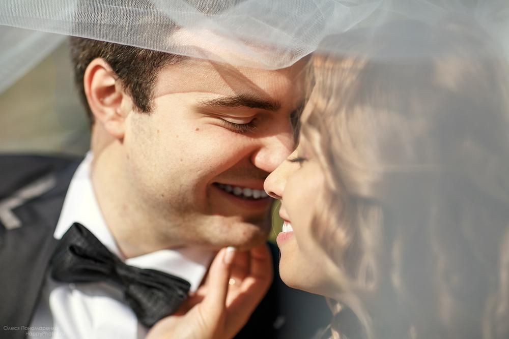 Свадебная фотография, крупный план. Лера