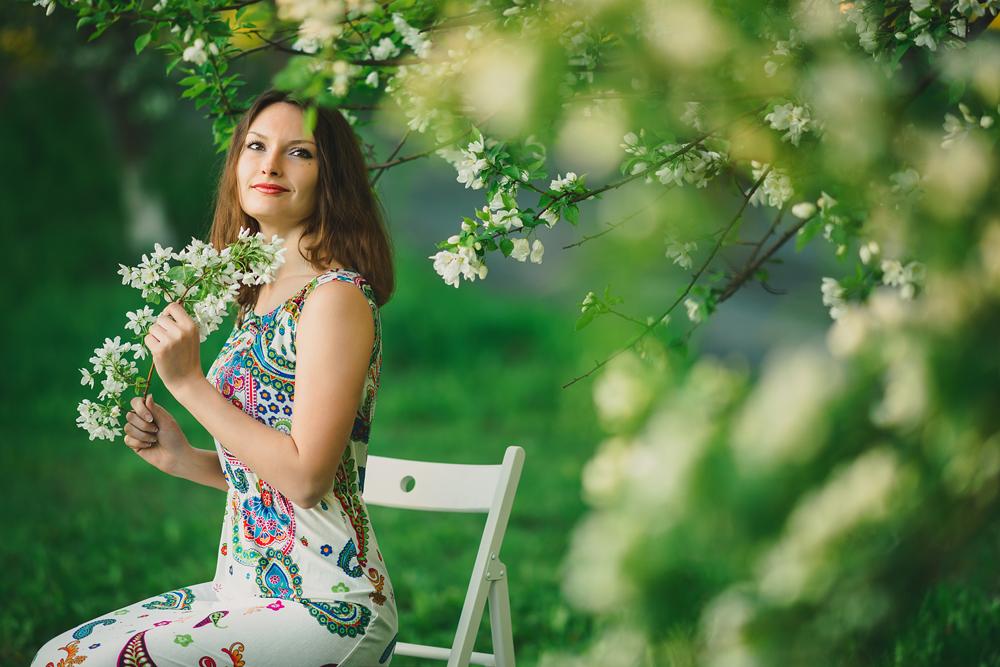 Портфолио - Алена, яблоневый сад, Тюмень - фотограф Денис Силин, свадебный фотограф Денис Силин, семейный фотограф Денис Силин