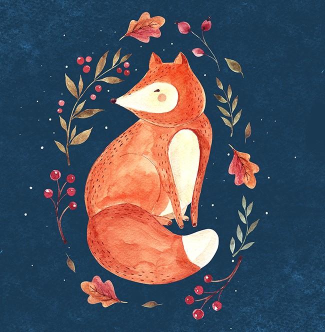 Акварельный логотип, логотип на заказ, watercolor illustration, moleskostudio