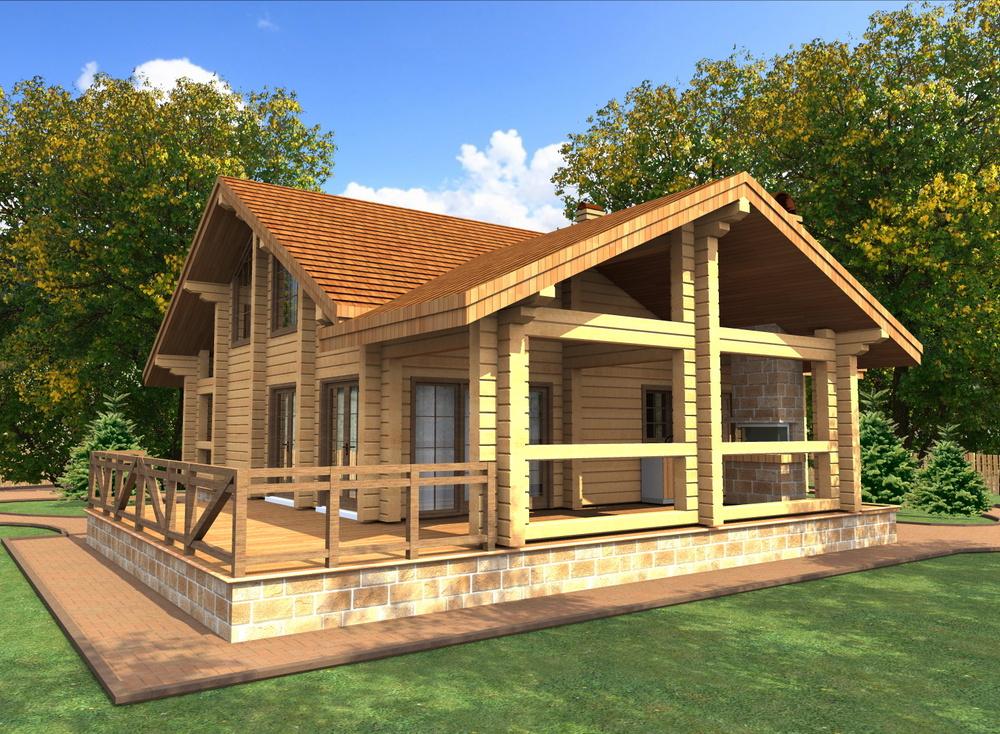 Загородные дома из дерева - Баня из клееного бруса в Истье