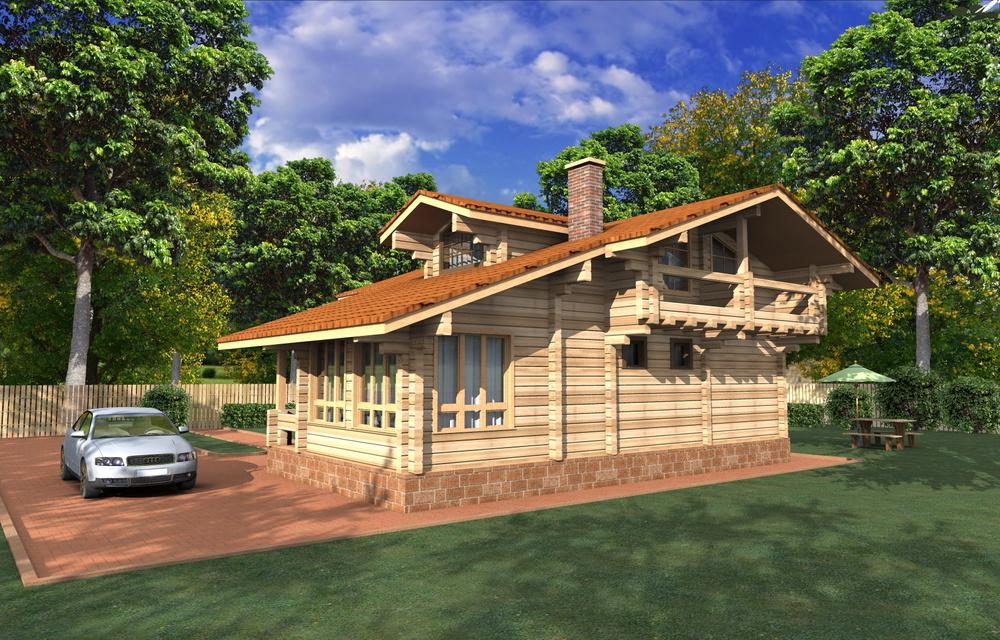 Загородные дома из дерева - Загородный дом в д.Мансурово