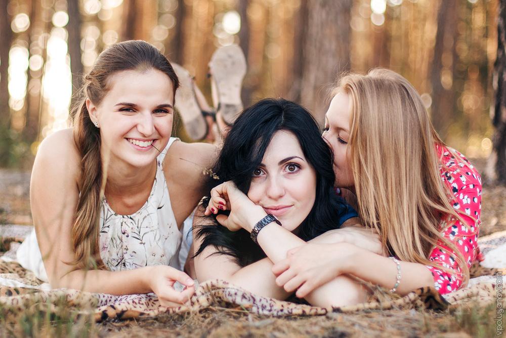 Аня, Алина и Ксюша (август '15)