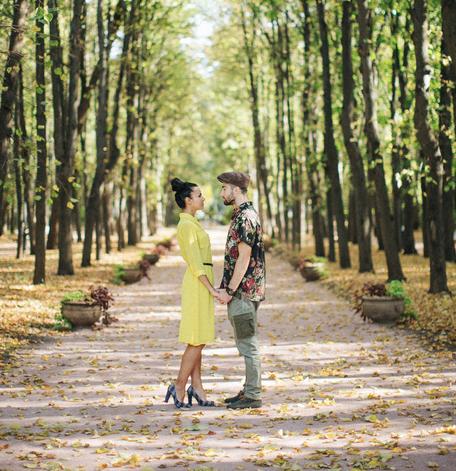 Осень в Нескучном (Карина и Абдул)