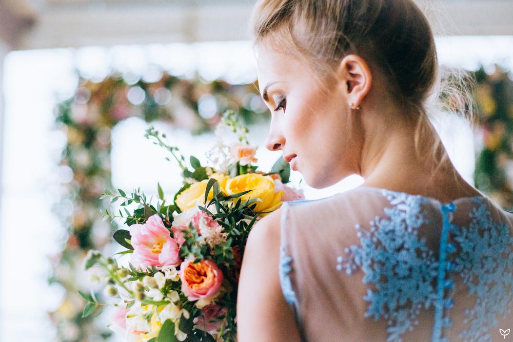 Ballerina & flowers