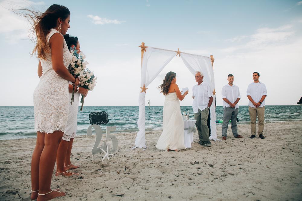 Beach Wedding R + E