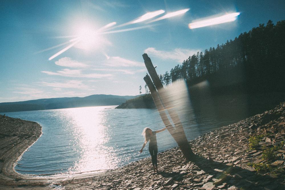 Ocean and sun