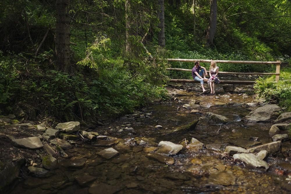 Алена и Дима в Карпатах 1