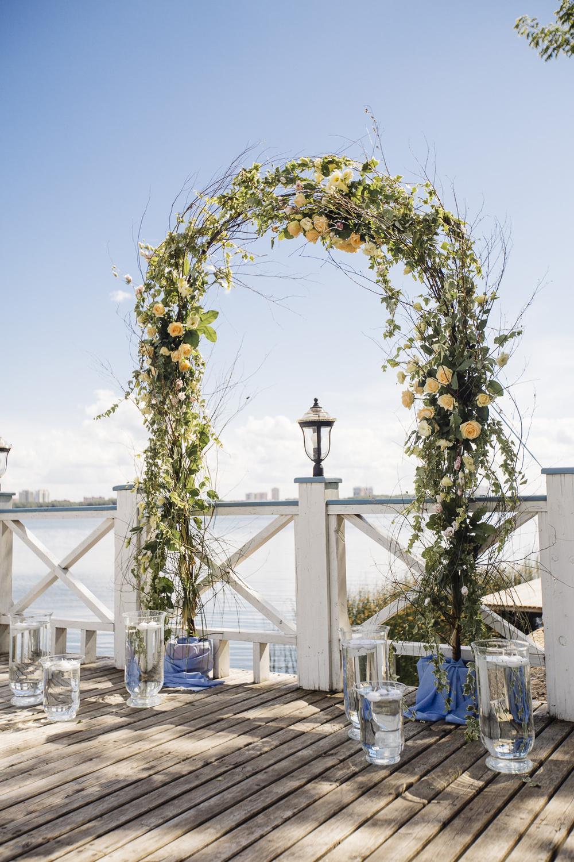 Свадьба Валентины и Юрия в голубом Serenity