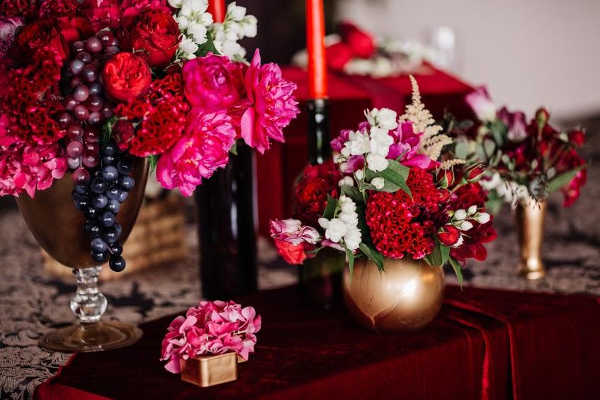 Свадьба Алексея и Анастасии в цвете Марсала