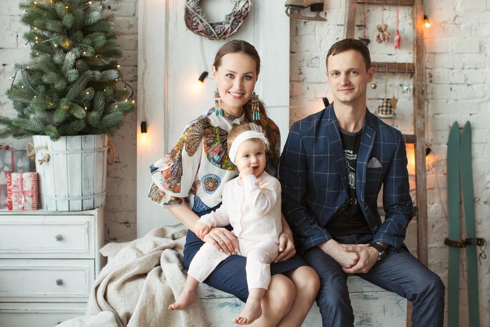 Новогодняя фотосессия (Федор, Юлана и Милослава)