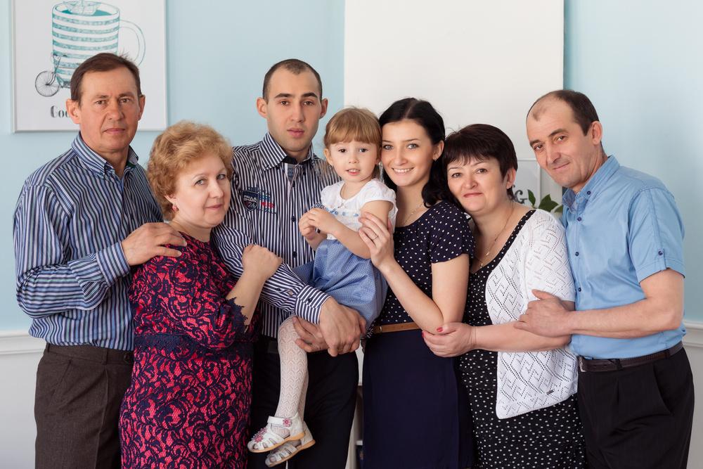 Когда приходят всей семьей