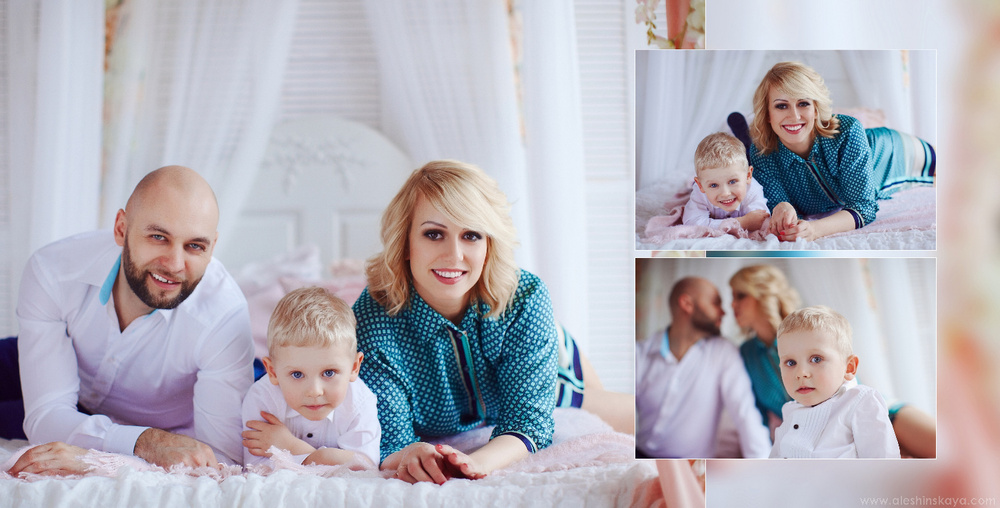 Family at home studio