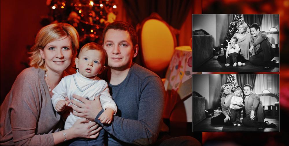New Year photos of Nastia's family
