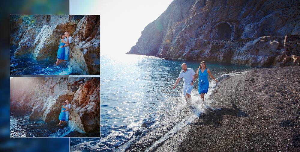 Couple on Santorini