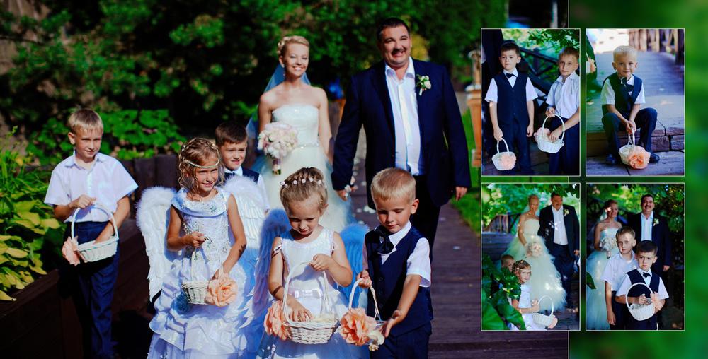 Wedding in Moscow, summer, club
