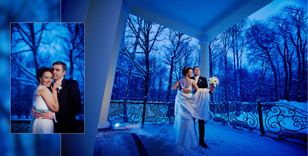 Winter wedding in country side