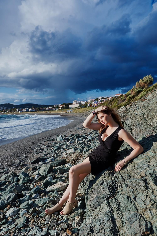 Maria at beach